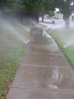 Irrigation overspray